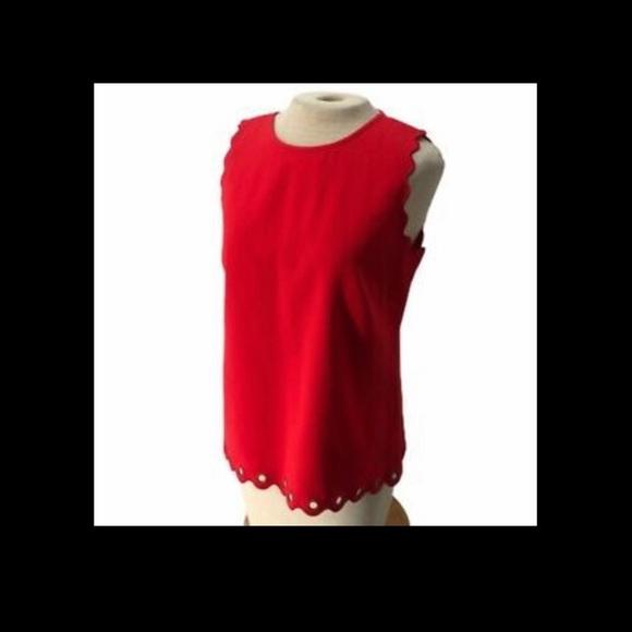2/18- Gorgeous Red JCrew tank blouse
